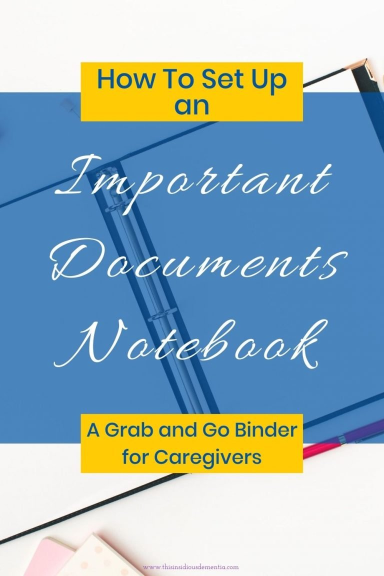 Notebook with the words How to set up an important documents notebook