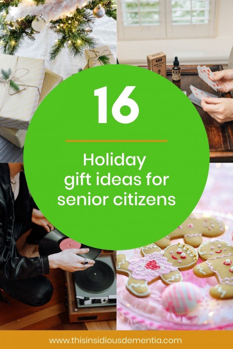 Gift ideas for senior citizens including playing cards and baking cookies