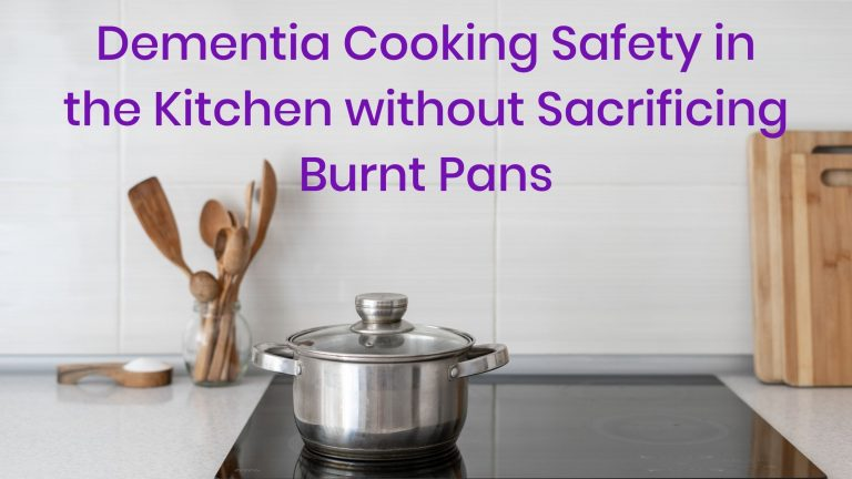 pot on ceramic stove, dementia cooking safety in the kitchen without sacrificing burnt pans